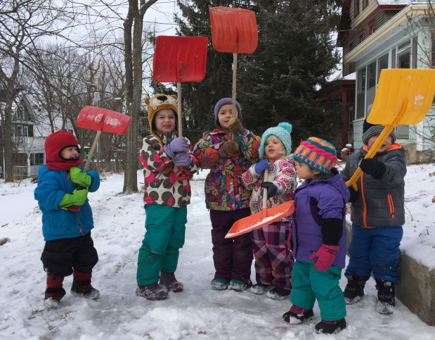 Getting out the door and loving Winter withkids