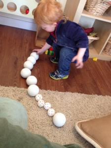 Sorting balls.