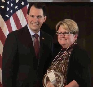 Family Child Care Provider, Tammy Donnhoff and Governor Scott Walker